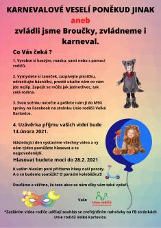 Karneval pozvánka